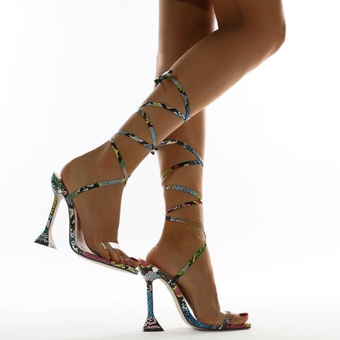 1 paire de mode à Talons Hauts Chaussures d'Été Sandales Pour Dame Femme sandale - nu-pieds chaussures de ville