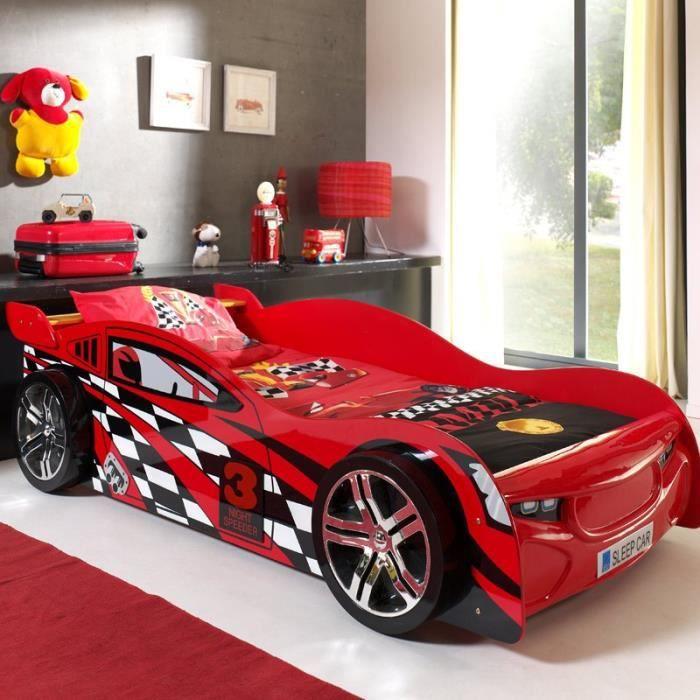 Lit Enfant Voiture -night Speeder- Rouge - Paris Prix