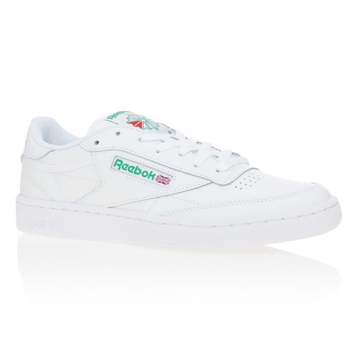 REEBOK Baskets Club C85 Cuir - Homme - Blanc