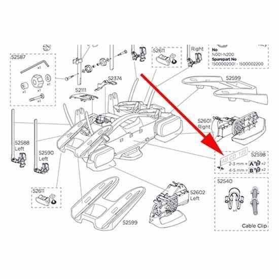 Transporteurs Accessoires Thule Numberboard Clip 52598 2a+2b - Taille Unique - Noir