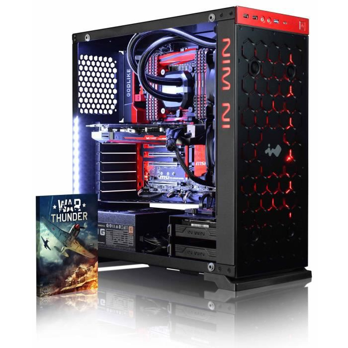 Vibox Species X Gl760 3 Pc Gamer Ordinateur avec Jeu Bundle (4,7Ghz Intel i7 6 Core Coffee Lake Processeur, Asus Strix Geforce Gtx 1