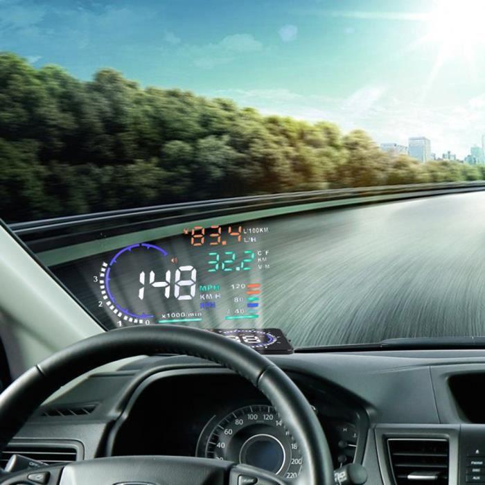 5.5 voiture /écran Multi-couleurs A8 Hud Affichage T/ête Haute Obd Avertissement Ii Vitesse