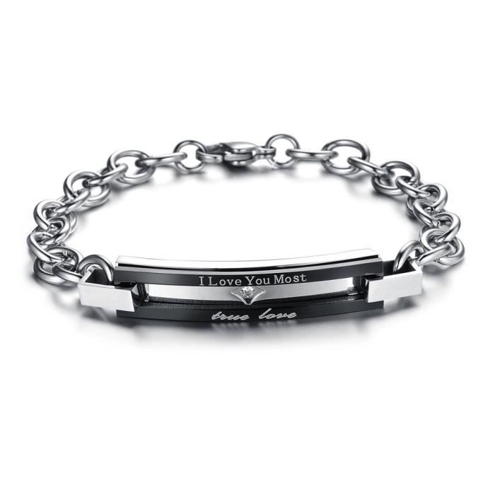 bracelet couple homme femme chaine de main
