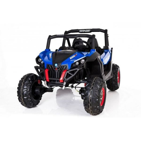 voiture lectrique 2 places 24v buggy utv mx bleu pack luxe achat vente voiture enfant. Black Bedroom Furniture Sets. Home Design Ideas