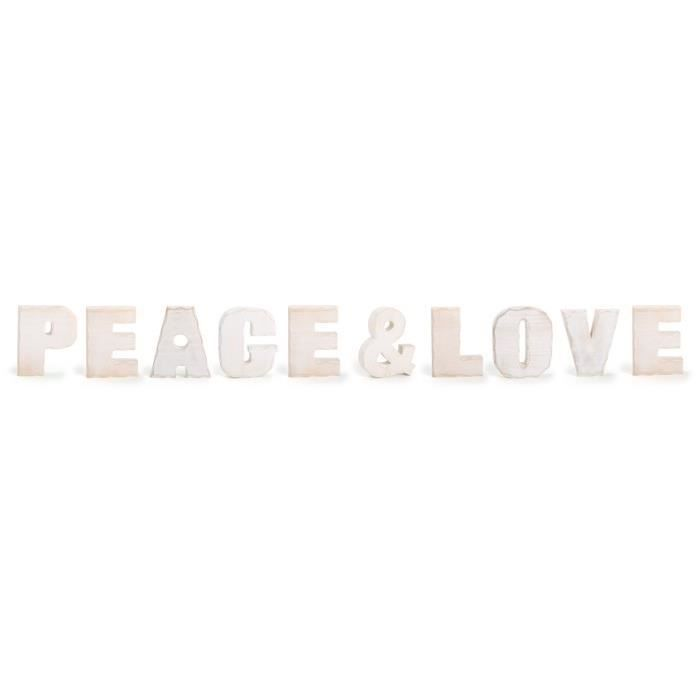 Peace love achat vente objet d coration murale for Decoration murale love