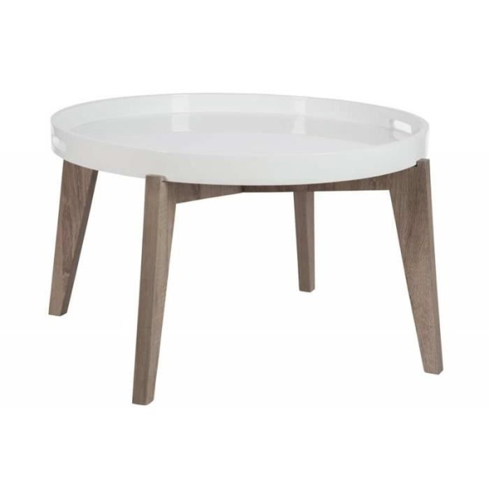 Table d 39 appoint ronde avec plateau en bois bicolore grand - Table ronde d appoint ...