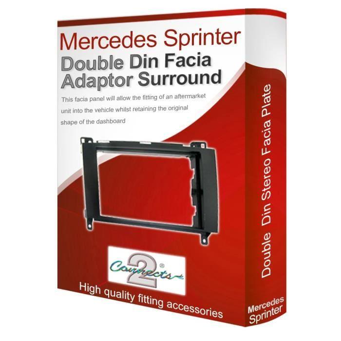 Mercedes Voiture CD Stéréo Radio Double Din Noir Façade Adaptateur Panneau