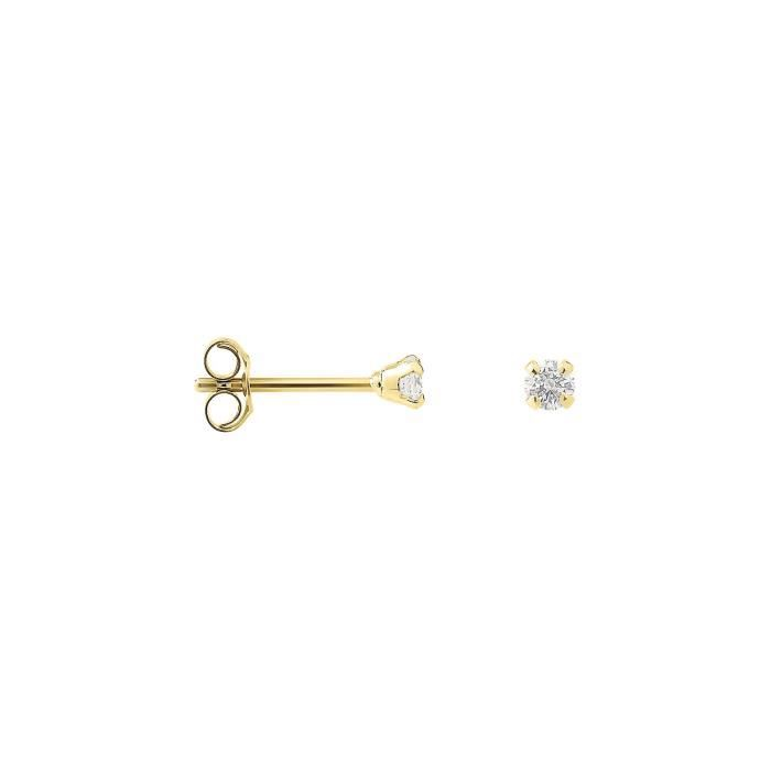 DIAMOND LANE Boucles dOreilles Or Jaune 375° et Diamants 0,2 cts Femme