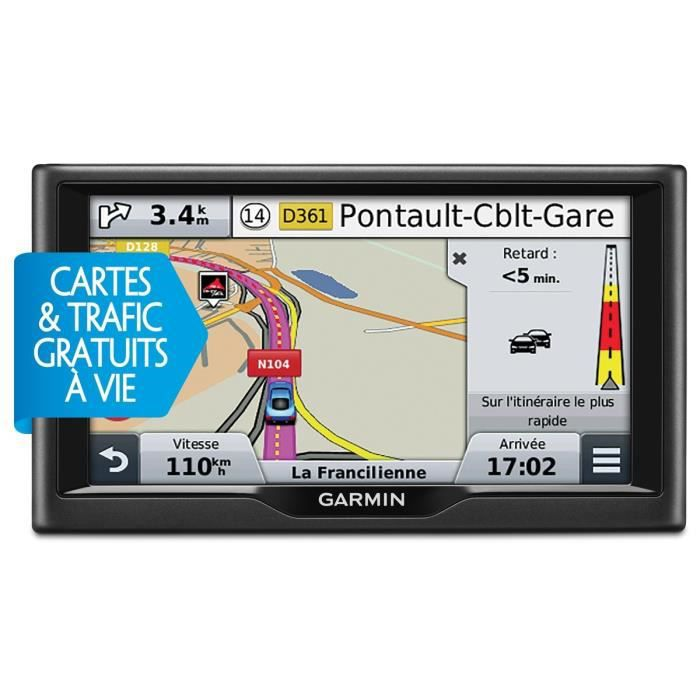 garmin n vi 57 navigateur gps 5 cartes vie et trafic rds lmt achat vente gps auto. Black Bedroom Furniture Sets. Home Design Ideas