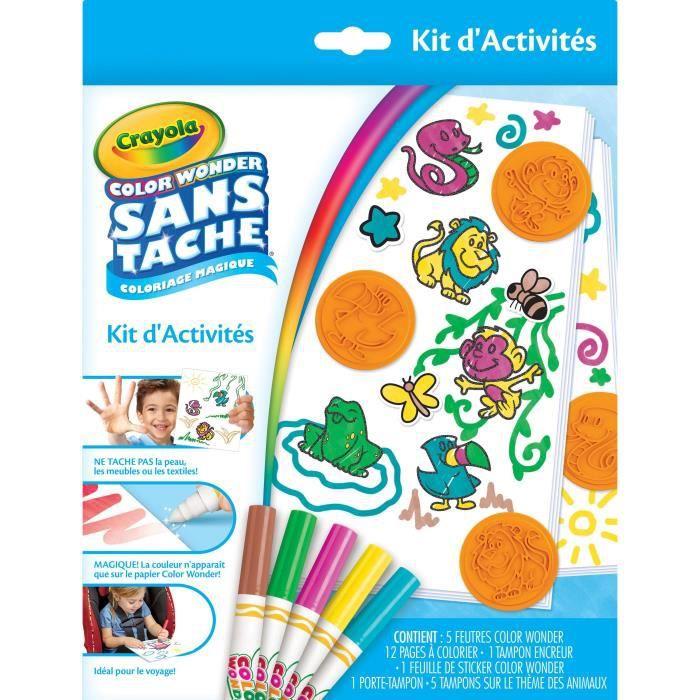 Crayola Autocollant /& Livre De Coloriage Avec Réutilisable Stickers /& Crayola Crayons