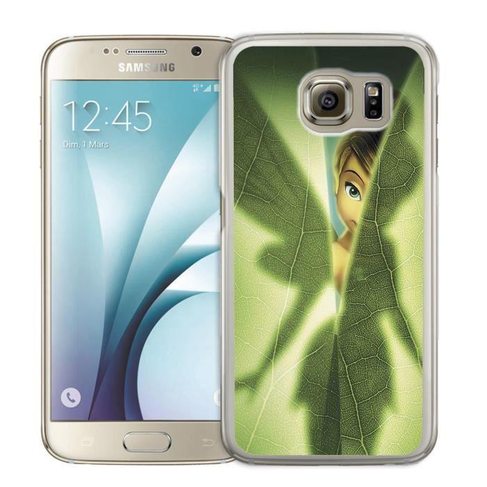 Coque Samsung Galaxy S7 Edge Fée Clochette Feuille