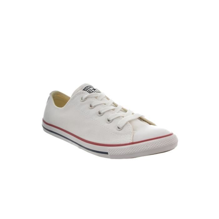 baskets mode converse chuck taylor all star dainty ox blanc