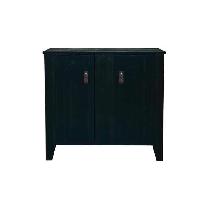 meuble de rangement noir avec poignees h75 x l80 x p40 cm. Black Bedroom Furniture Sets. Home Design Ideas