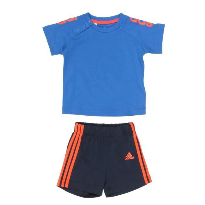adidas ensemble b b gar on bleu et orange achat vente surv tement de sport cdiscount. Black Bedroom Furniture Sets. Home Design Ideas