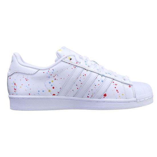 Basket Adidas Superstar B42618 Peinture Blanc - Cdiscount Chaussures