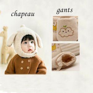 CHAPEAU - BOB Combinaison bonnet et gant enfant garder au chaud