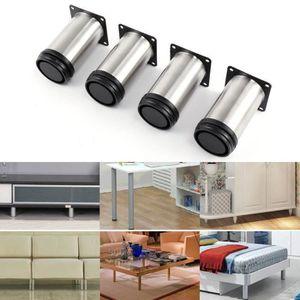PIED DE MEUBLE 2windeal® 4pcs Pieds de meuble Hauteur 100mm Suppo