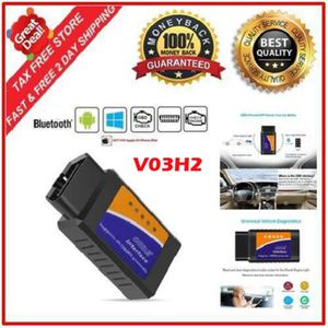 OUTIL DE DIAGNOSTIC V03H2 voiture OBDII Bluetooth 2.0 Tester Auto Outi