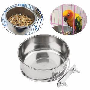 MANGEOIRE - TRÉMIE Mangeoire à oiseaux en acier inoxydable Jeu de nou