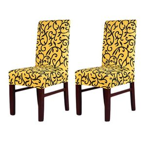2pcs Housses De Chaise Stretch Couvertures De Chaise