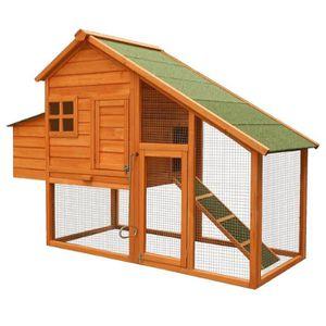 POULAILLER Poulailler / Clapier / Cage pour poule en bois ave