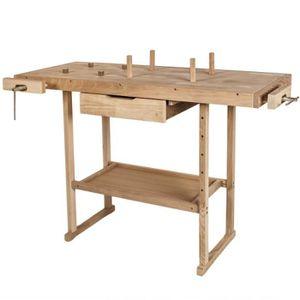 ETABLI - MEUBLE ATELIER Établi en bois avec 2 étaux universel robuste 117