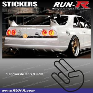 Akachafactory Autocollant Sticker Voiture Moto Made in Japan JDM tunning Japon Blanc