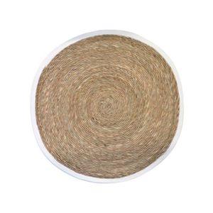 TAPIS Estello - Tapis en fibres naturelles blanc - Dimen