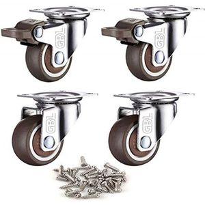 ROUE - ROULETTE GBL - 4 Petites Roulettes pour Meubles, 25mm Roule