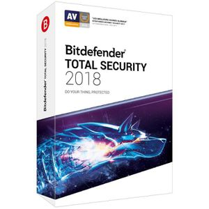 ANTIVIRUS BITDEFENDER Total Security 2018 - 2 ans - 10 appar