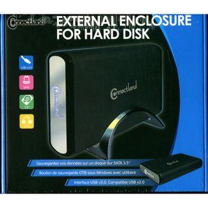BOITIER POUR COMPOSANT Boitier USB 3.0 CNL-U35SEA Noir pour SATA 3.5 avec