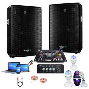PACK SONO SONO DJ 600W + 2 JEUX DE LUMIERES + AMPLI + ENCEIN