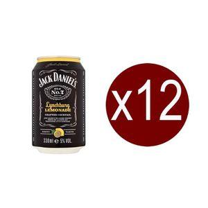 WHISKY BOURBON SCOTCH 12 canettes de Jack Daniel's  Lynchburg lemonade,