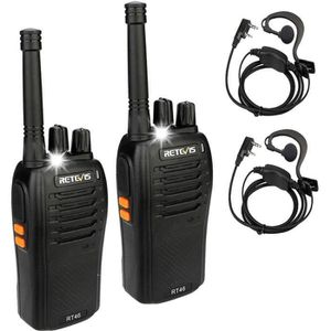 TALKIE-WALKIE Retevis RT46 Talkie-walkie PMR446 VOX Silencieux T