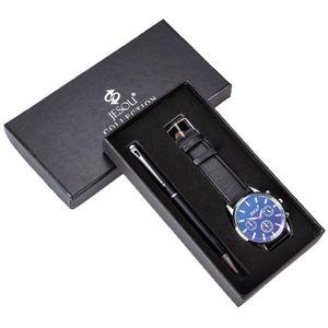 Coffret cadeau pour homme avec porte-monnaie montre stylo porte-cl/és briquet