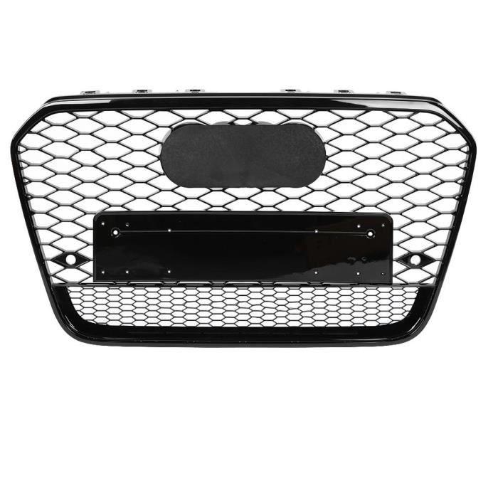 NAKESHOP Capot de grillade en nid d'abeille alu nid d'abeille sport noir pour RS6 Quattro Style pour Audi A6 / S6 C7 12-14