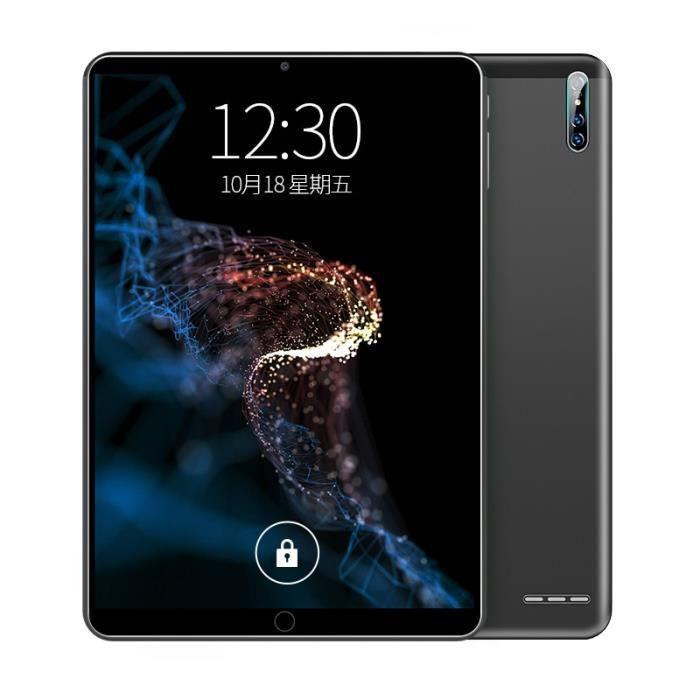 Tablette 10 pouces Pc Android 9.0 Ten-Core GPS WIFI PC Double caméra Dual SIM 3G Tablettes d'appel téléphonique-noir