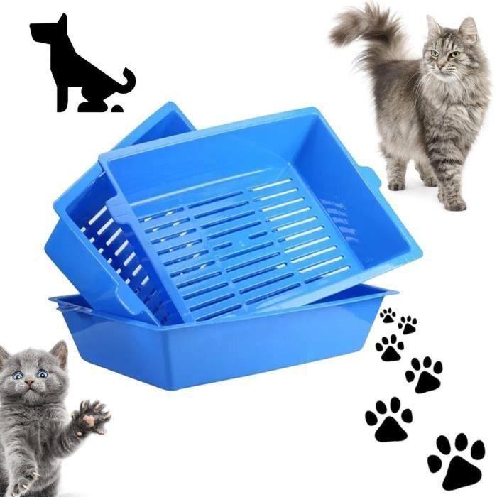 3PCS Bacs à litière de toilette pour chat plateaux verrouillés pour chat
