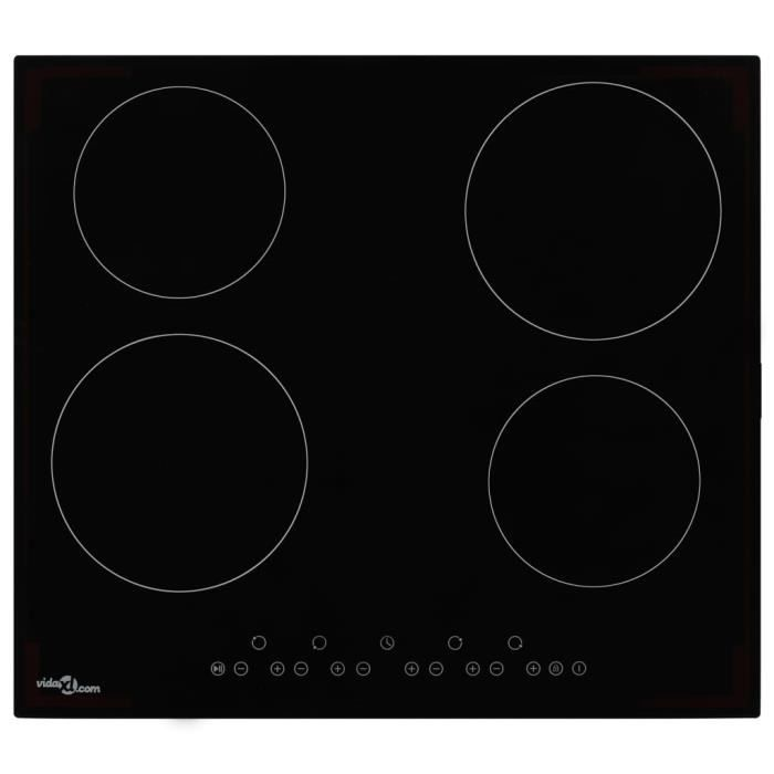 MMCZ® Plaque de cuisson Professionnel - Plaque Posable Plaque Induction Céramique 4 brûleurs Contrôle tactile 6000 W ❤7749