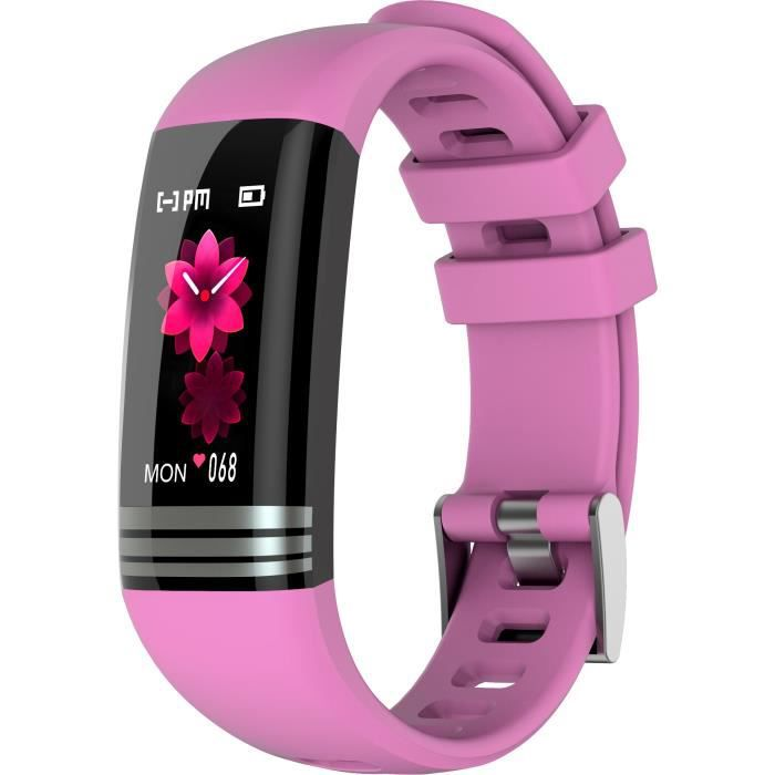 Montre connectée MMTek Thermo Sport Smartband thermomètre Bracelet montre intelligente fitness – Rose