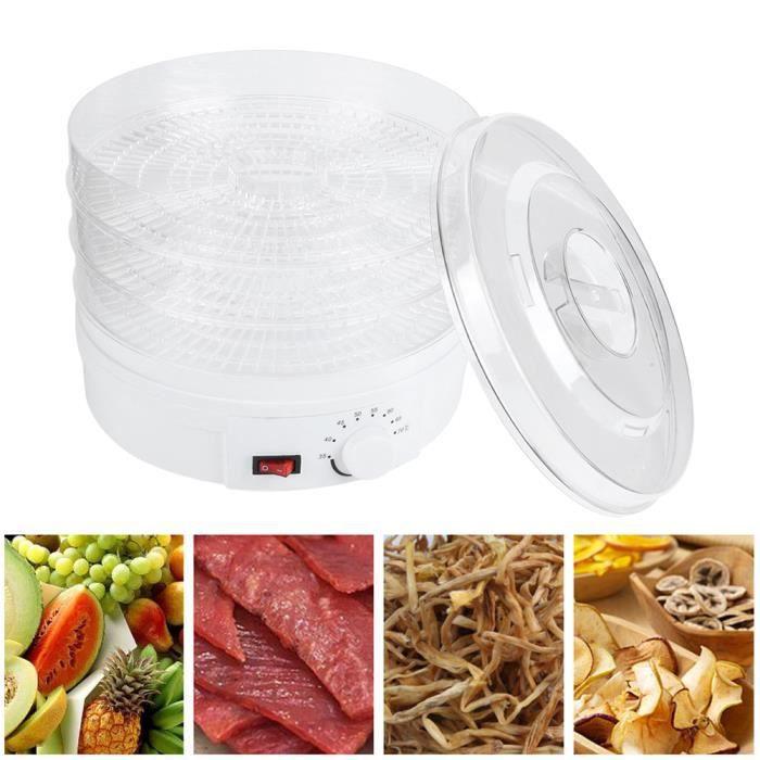 Qiilu Déshydrateur de fruits Mini Séchoir à Aliments Transparent Déshydrateur à 3 Couches de Matières Médicinales aux