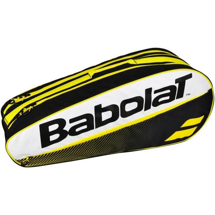 Sac de Tennis Babolat Club Jaune 6R - Couleur:Jaune Type Thermobag:6 raquettes
