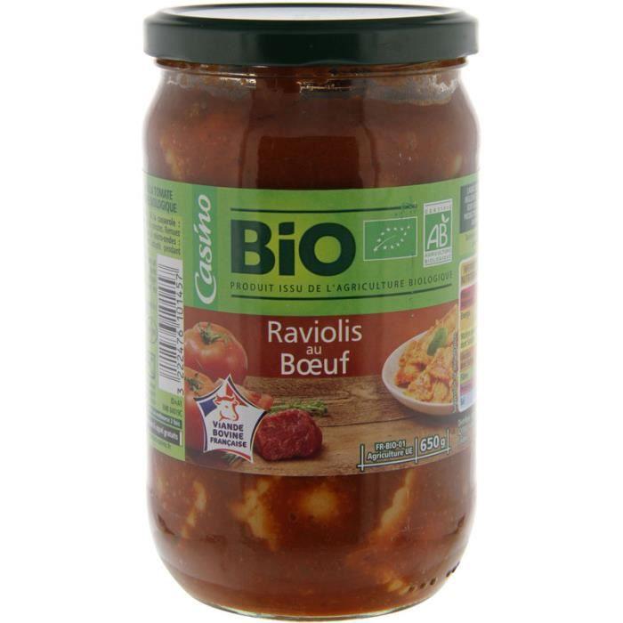 Raviolis au boeuf bio - 650g