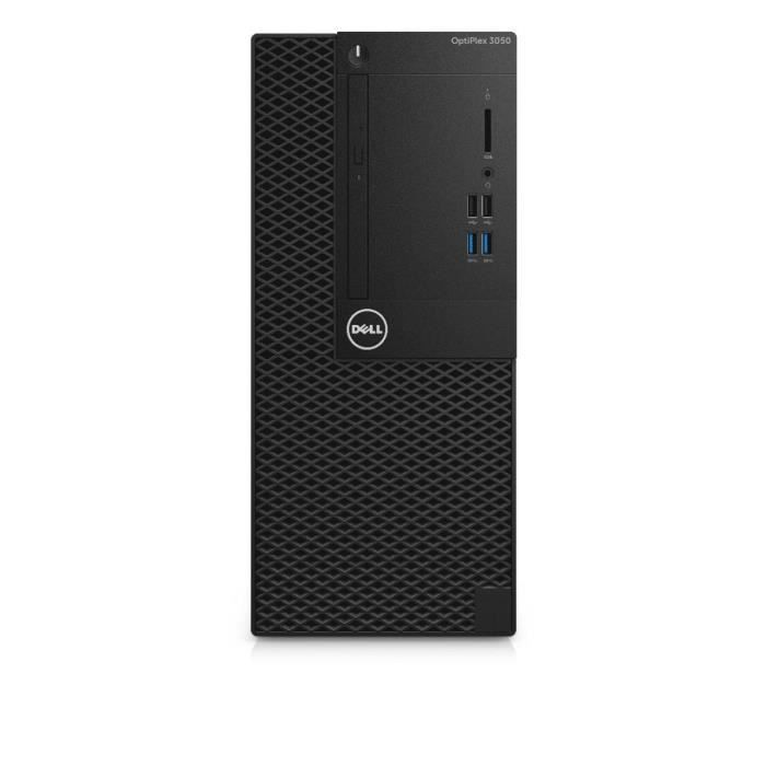 Unité Centrale - DELL OptiPlex 3050 - Core i3-7100 - 4Go de RAM - Disque Dur 500Go HDD - Intel HD Graphics 630 - Windows 10 Pro