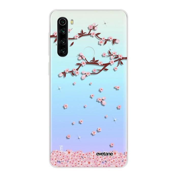 Coque Xiaomi Redmi Note 8 T 360 intégrale transparente Chute De Fleurs Ecriture Tendance Design Evetane