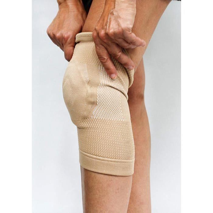 Bandage Genou Avec Coussin Articulation Fibres De Bambous Femme