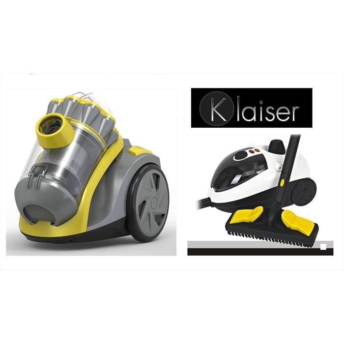 Pack Klaiser Aspirateur Sans Sac Extractor Compact 1600W