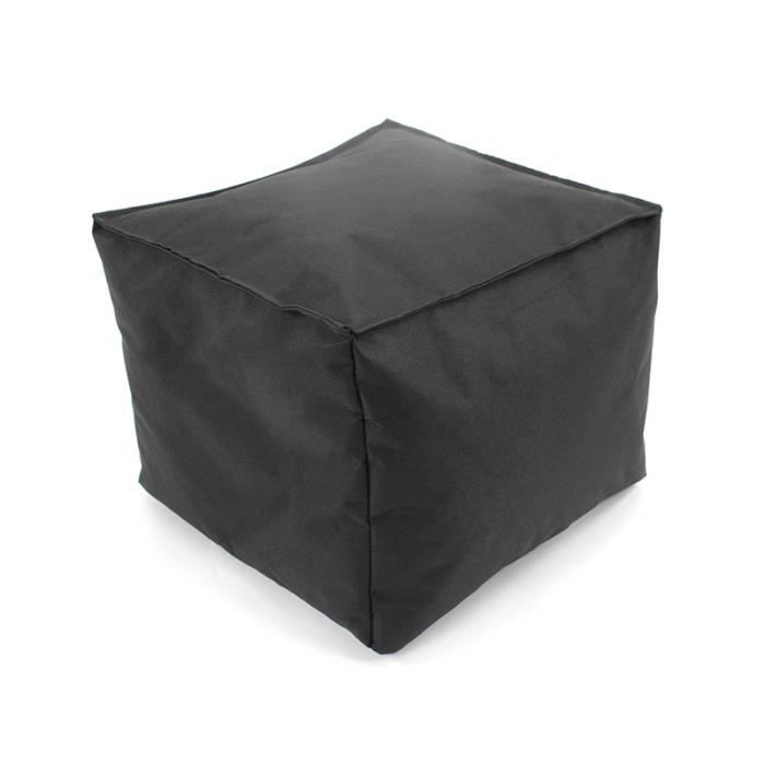 pouf tout carr int rieur ext rieur 30x30x25 noir. Black Bedroom Furniture Sets. Home Design Ideas