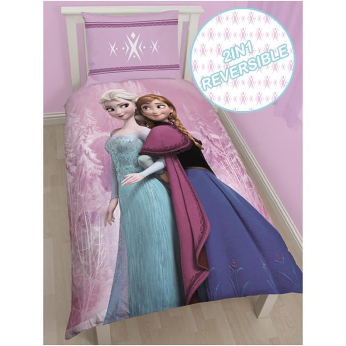 la reine des neiges housse de couette 1 personne achat. Black Bedroom Furniture Sets. Home Design Ideas