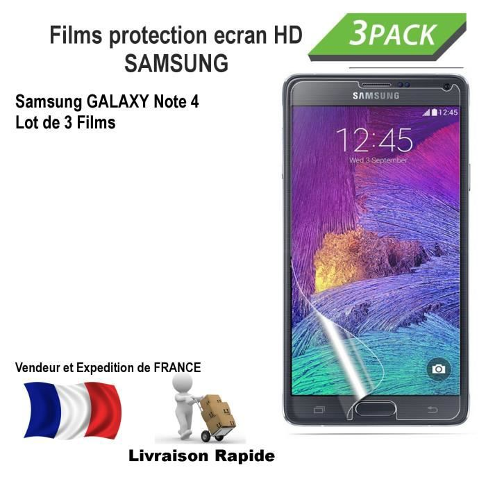 Samsung galaxy note 4 film protection ecran hd achat for Photo ecran note 4